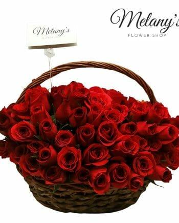 rosas rojas en el salvador cesta de rosas rojas