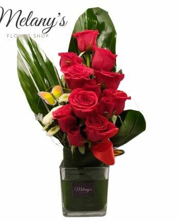 rosas rojas en el salvador melany flower shop