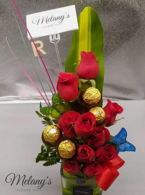 melany flower shop rosas rojas